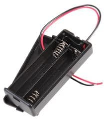 PRO POWER SBH-421-2A  Battery Holder,2Xaaa Enclosed,Wire Leads